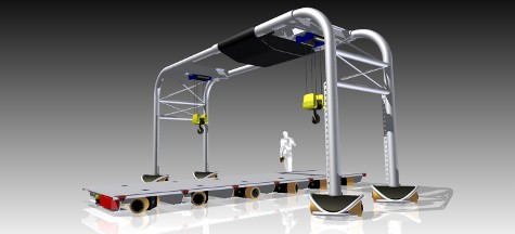 Layout Flexibility: Mobile Gantry Cranes . 30000kg